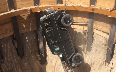 Man rescued after car falls into 15-meter-deep hole in Dubai