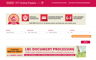 The Filipino Times and LBC roll out online booking for cargo sending and document processing