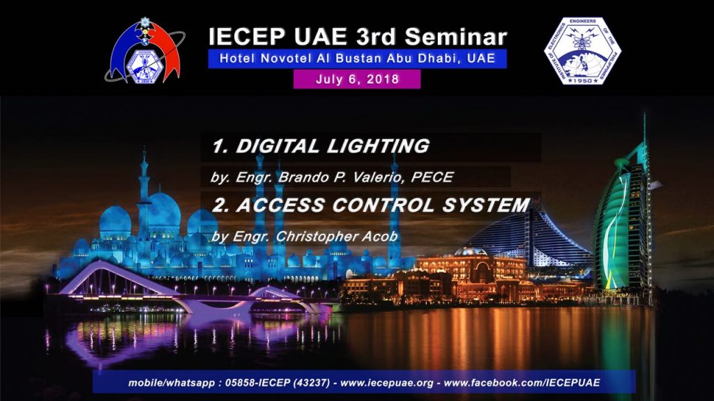 Invitation: Electronics engineers to hold seminars on Digital Lighting and Access Control Systems in Abu Dhabi