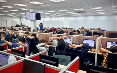 Over 400 employees arrested in Pampanga for multi-million online scam