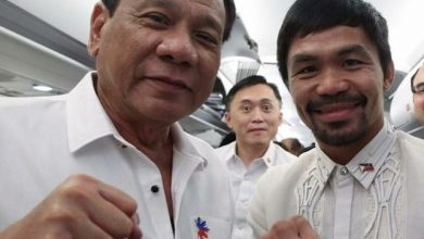 Photo of Duterte urges Pacquiao to retire from boxing