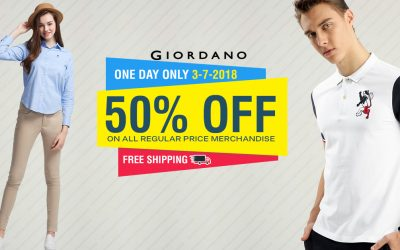 Giordano slashes prices to 50% off on selected merchandise
