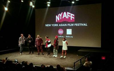 Filipino rapper Abra accepts award in New York
