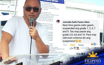 Witty announcement: Cainta mayor does it again