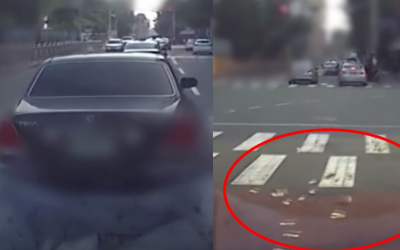 WATCH: Woman throws away cash worth millions on road as charity work