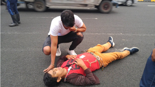 Daniel Matsunaga accidentally hits motorcycle leaving driver injured