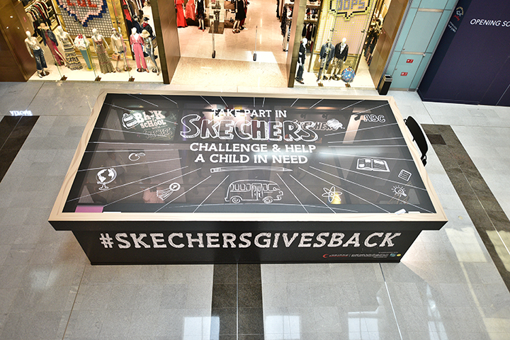 Skechers brings fun-filled life-sized 'Shoe-box' maze in Dubai to give back to children in need