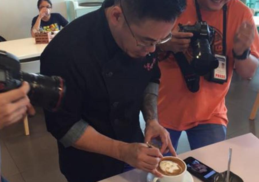 Meet the man behind Duterte coffee art