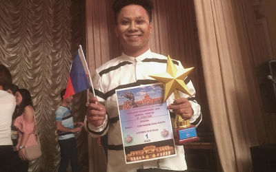 Filipino hailed as the top winner of the 5th International Competition of Arts and Culture 2018
