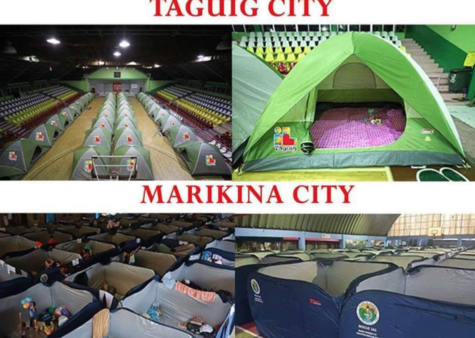 LOOK: LGUs step up evacuation, provide separate tents for residents