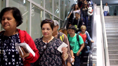 Photo of 109 Filipino amnesty grantees arrive in Manila from Dubai
