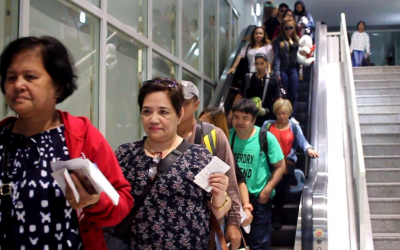IN PHOTOS: First batch of OFW grantees of amnesty program in UAE arrives in Manila