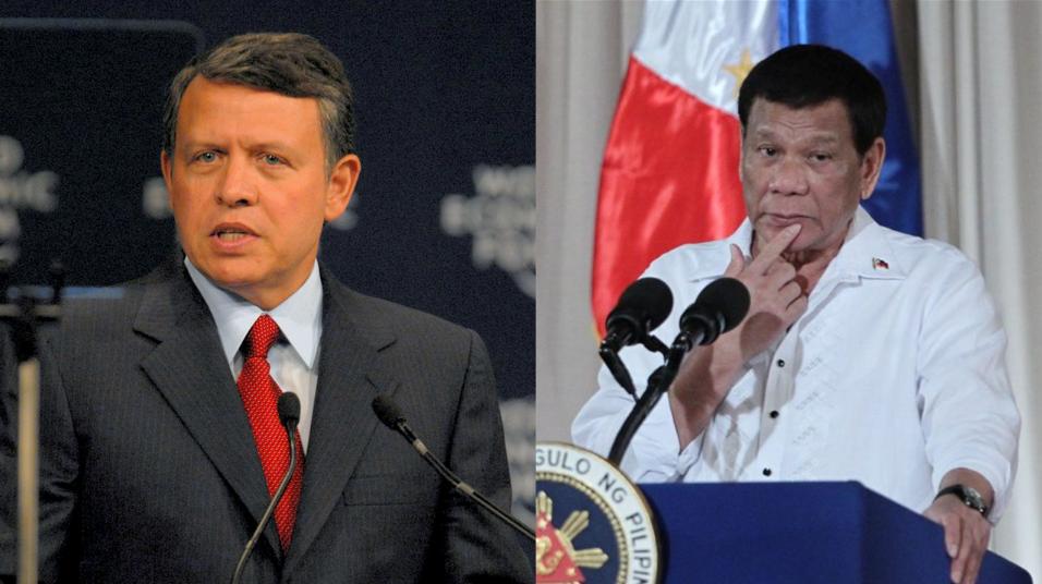 Duterte to meet King Abdullah II, OFWs in Jordan