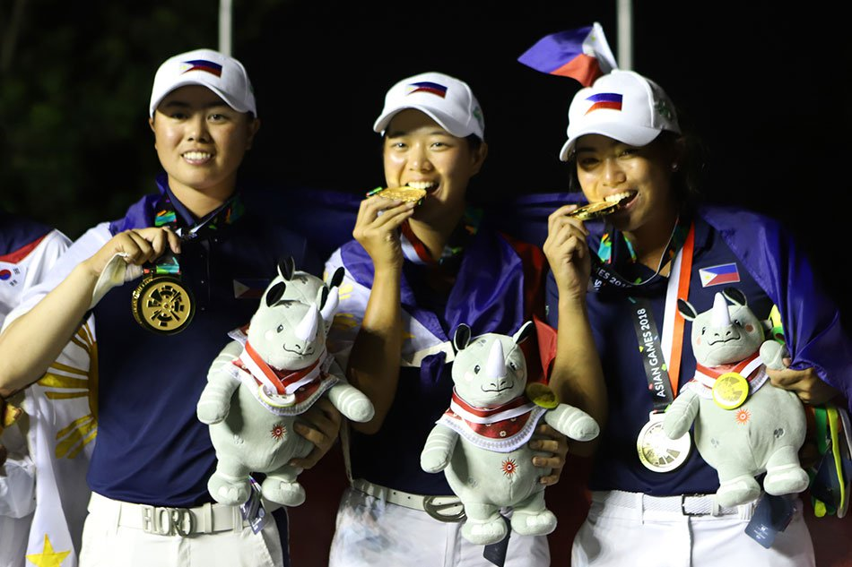 Pinay golfers win gold medals in 2018 Asian Games