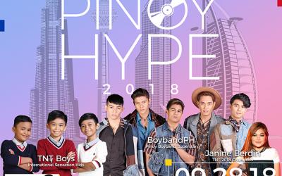 3 Filipino singing sensations to perform at Pinoy Hype Dubai music festival