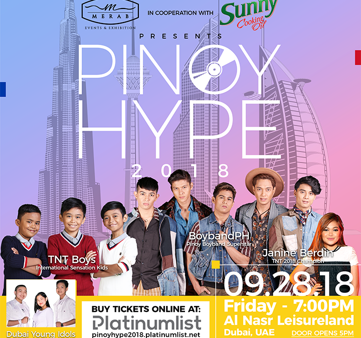 3 Filipino singing sensations to perform at Pinoy Hype Dubai music festival