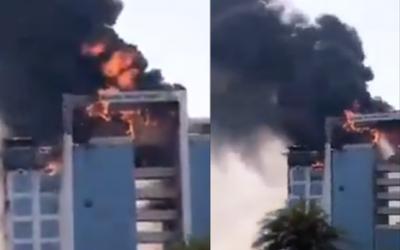 WATCH: Massive fire breaks out in Saudi Arabia building