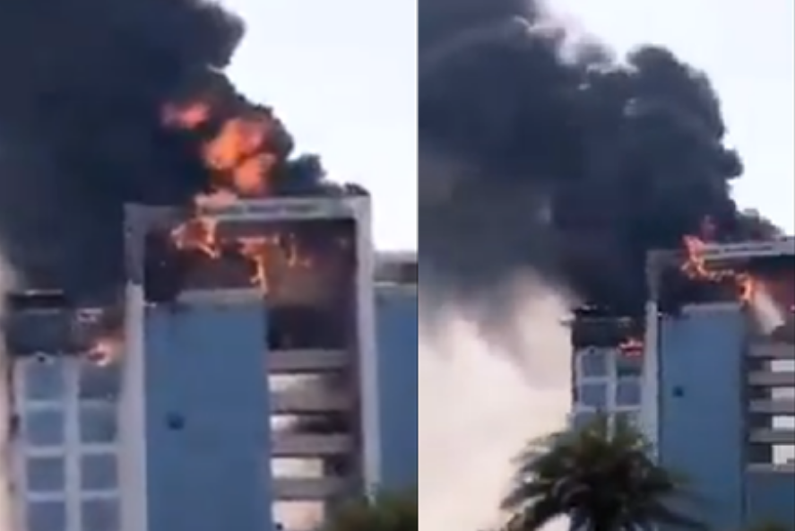 WATCH: Massive fire breaks out in Saudi Arabia building