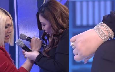 WATCH: Vice Ganda receives diamond-studded bracelet from Sharon Cuneta