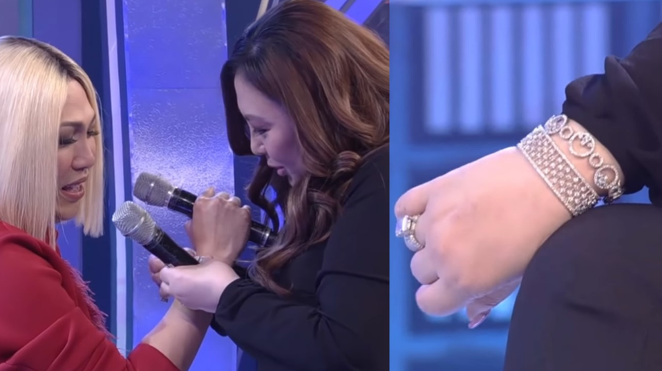 WATCH: Vice Ganda receives diamond-studded bracelet from Sharon Cuneta