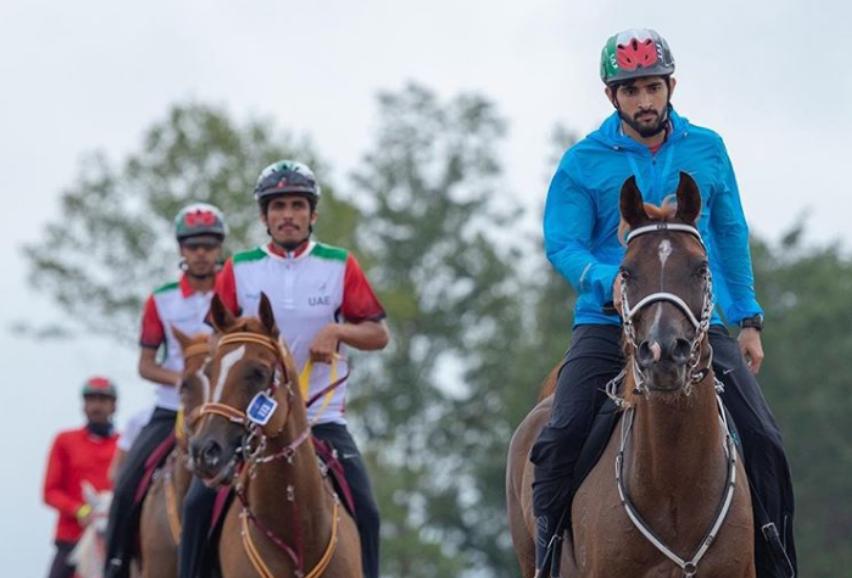 Dubai Crown Prince leads UAE knights in World Equestrian Games