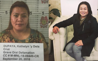Police arrests OFW Kathy Dupaya for grave oral defamation case filed by Joel Cruz