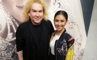 Sarah Geronimo wears AMATO Couture during Dubai concert