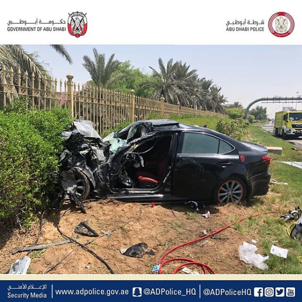 Car collision in Abu Dhabi puts man in critical condition