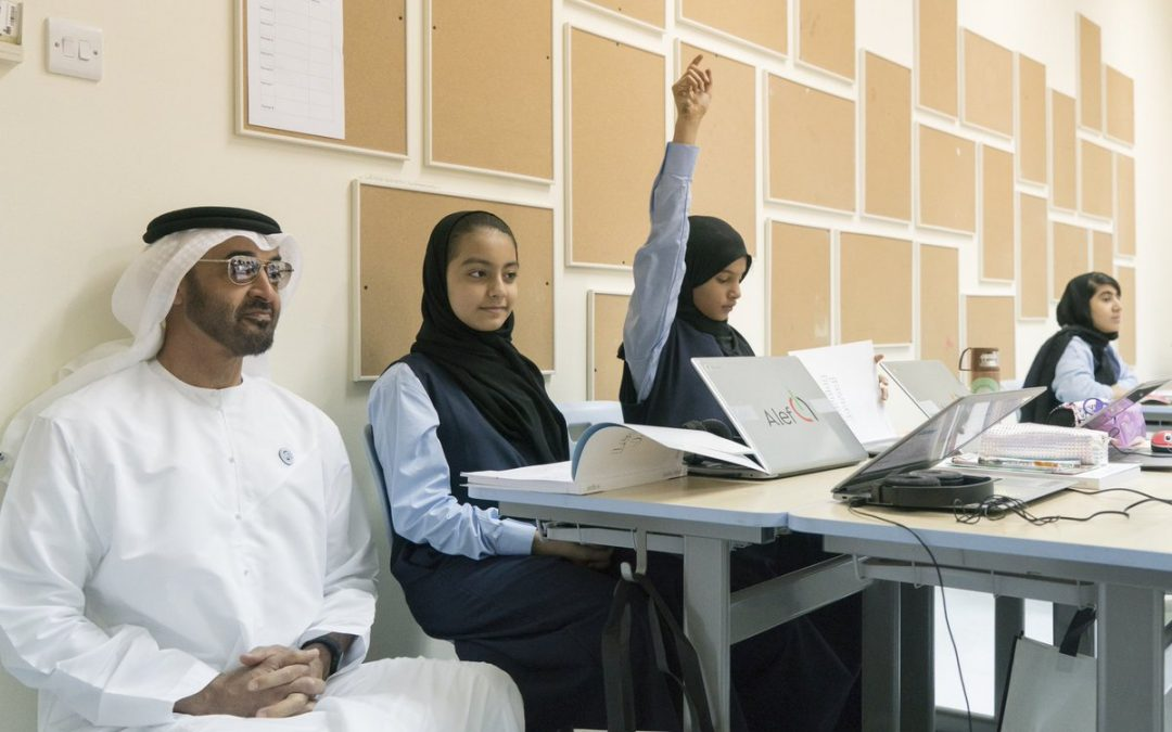LOOK: Mohamed bin Zayed sits in class on first day of school