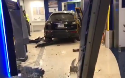 WATCH: Car ploughs into ATM booth in Dubai