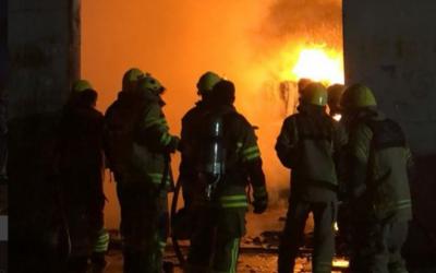 Plastic warehouse burns down in Ajman