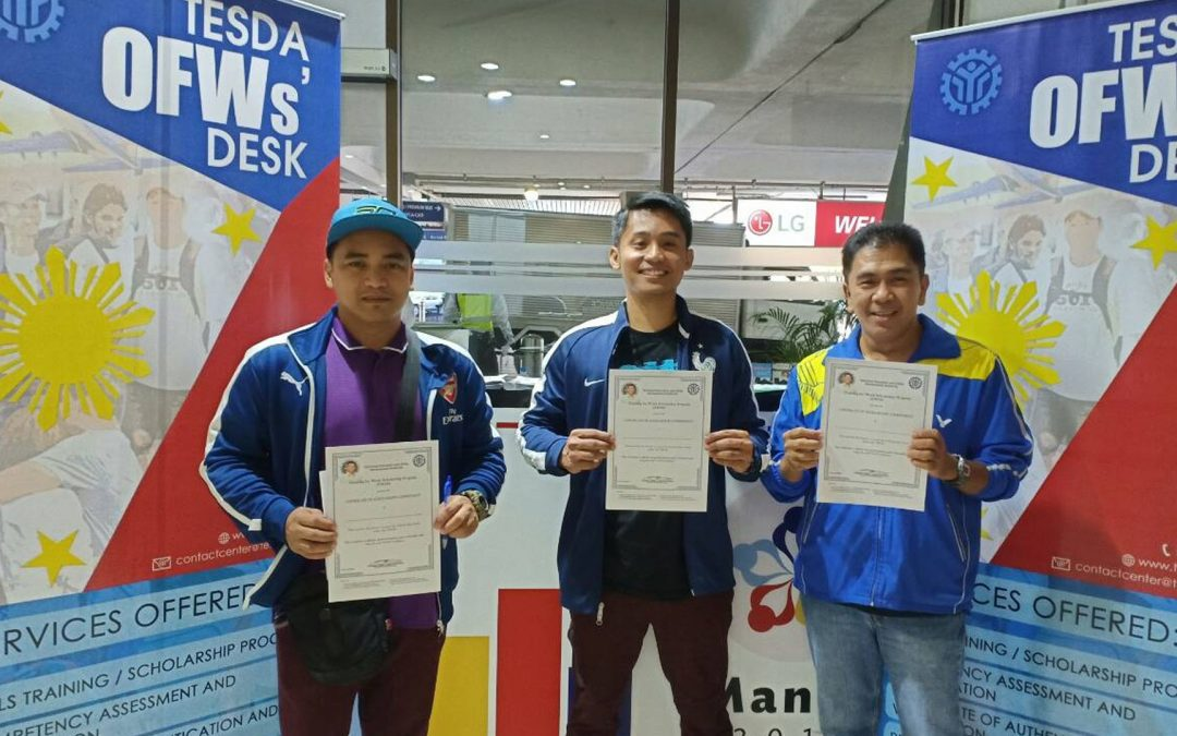TESDA reveals top courses preferred by OFWs