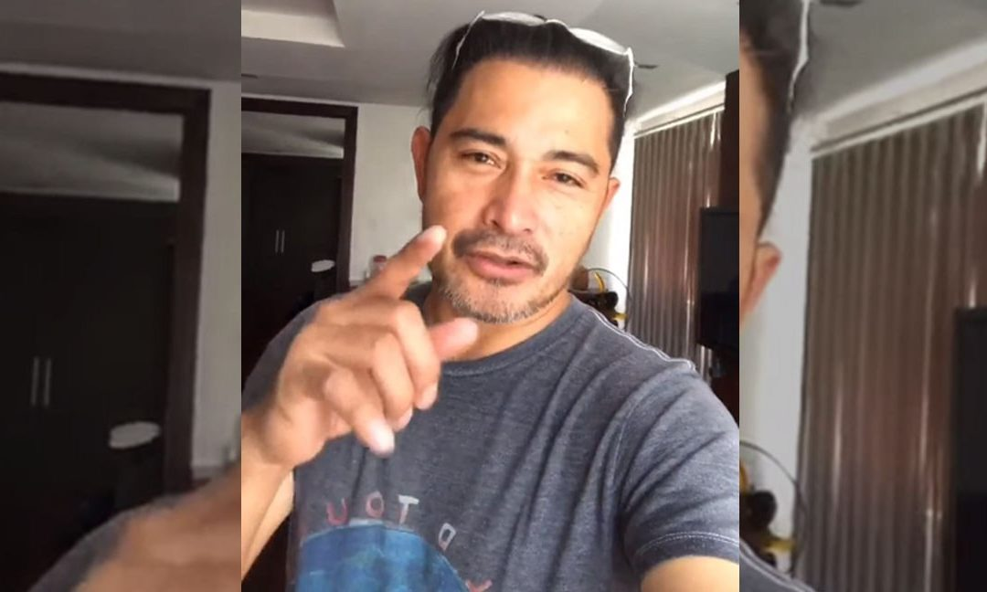Did Cesar Montano accidentally capture naked woman behind him in this video?