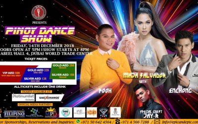 Maja Salvador, Enchong Dee, Jay-R and Pooh to headline Pinoy Dance Show in Dubai