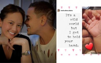 Ellen Adarna posts photos of child's hand on social media