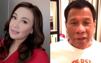 Duterte sends video message to Sharon Cuneta after missing her concerts