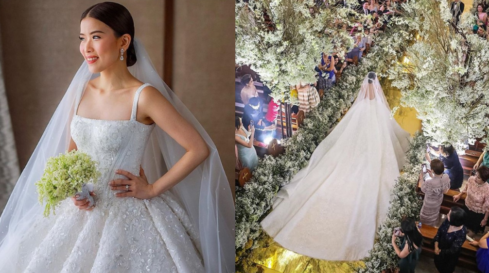 Pinay Celebrity Stylist Wears Michael Cinco In Star Studded Wedding