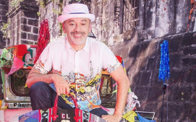 French luxury shoe designer Christian Louboutin spotted wearing Barong Tagalog