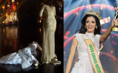 Miss Paraguay faints during Miss Grand International 2018