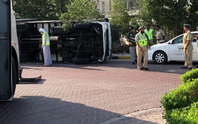 Asian man killed after truck tips over in Palm Jumeirah