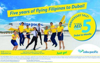 Cebu Pacific launches 5th anniversary sale