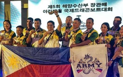 PH Army's dragon boat team rakes 5 gold medals in South Korea