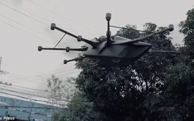 WATCH: Filipino inventor soars high after successful flight test of passenger drone
