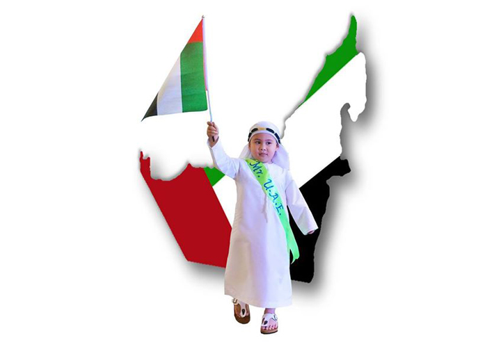 Dubai OFW parents' son represents UAE in school's United Nation day activity.