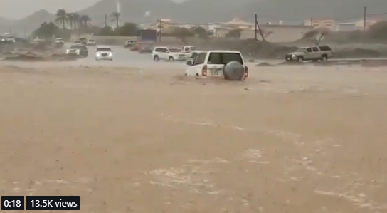 Heavy rains lead to flooding in parts of UAE