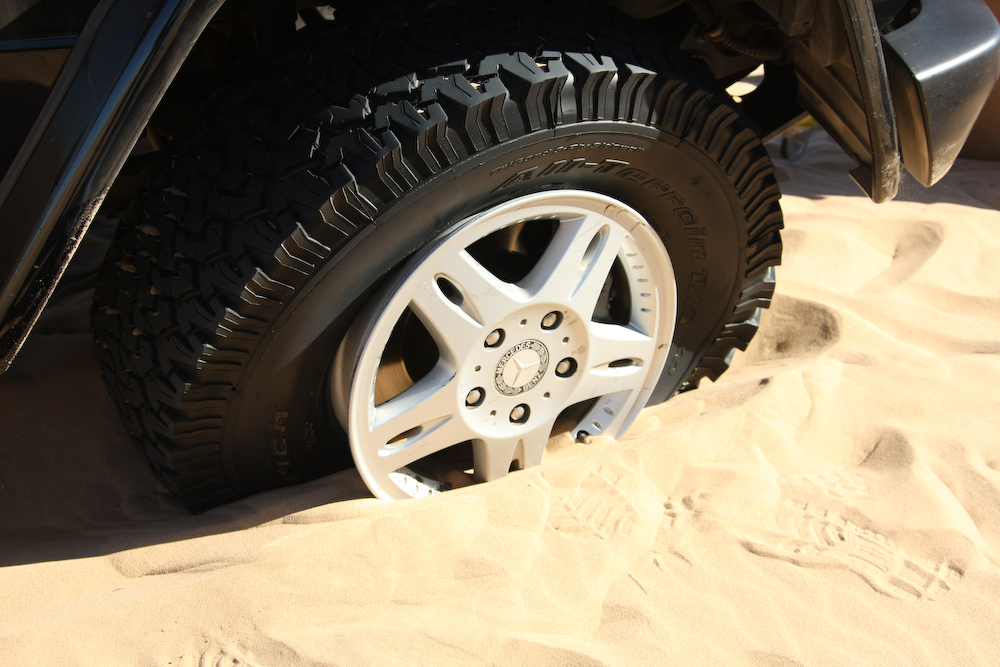 Robbers in Sharjah caught after getaway vehicle gets stuck in sand