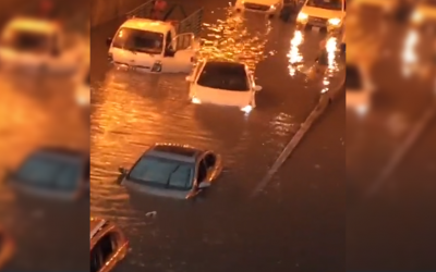 WATCH: Is this video of cars submerged in floodwater taken in Dubai?