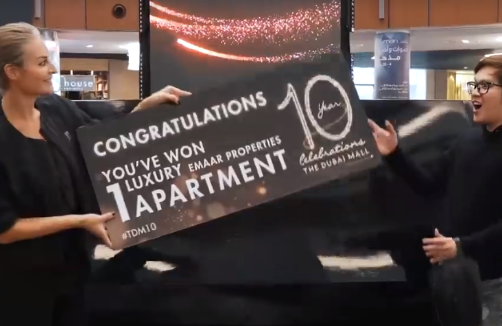 UAE expat wins luxury apartment from Dubai Mall