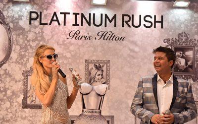 Paris Hilton launches 24th perfume Platinum Rush at brands4u store