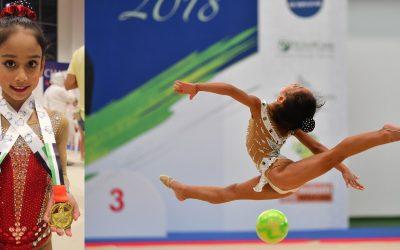 Young Filipina gymnast wins Gold at 1st Emarat National Rhythmic Gymnastic Championship